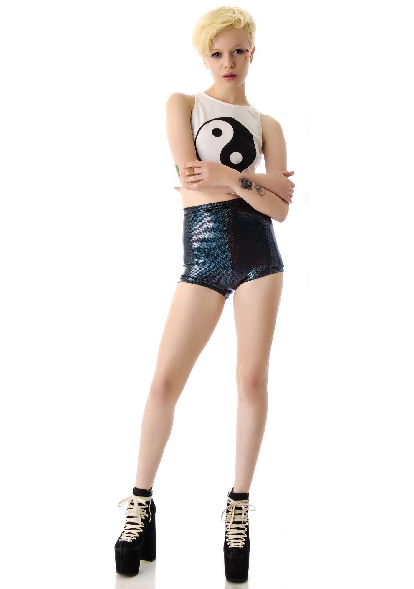 Tentacle Threads Sparkle Hot Shorts