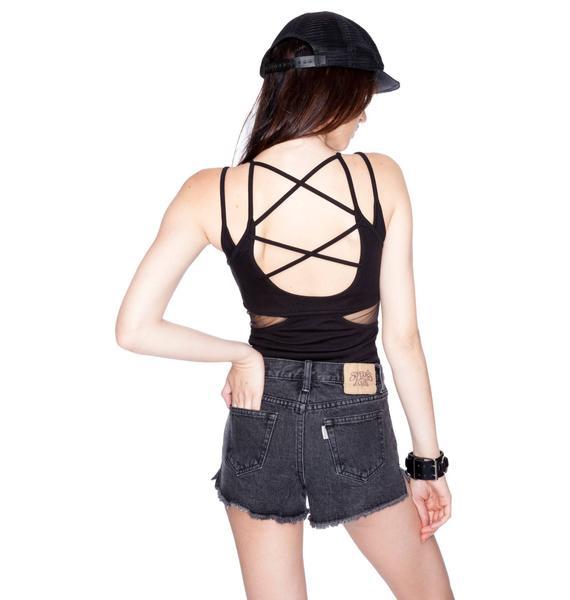 Somedays Lovin Night Prowler Black Contrast Pocket Shorts