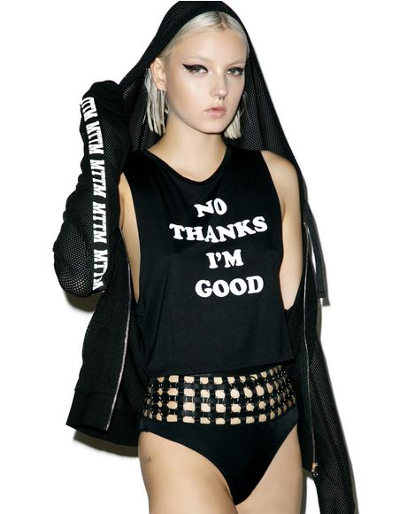 I'm Good Cropped Muscle Tank