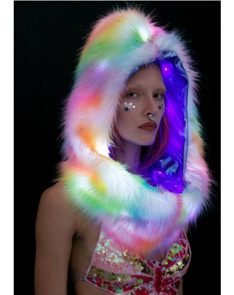 Rainbow Light-Up Infinity Hood