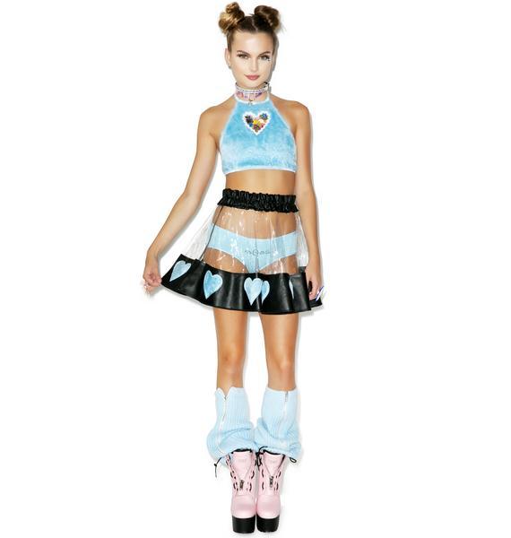 Indyanna Courtney Lust PVC Heart Skirt