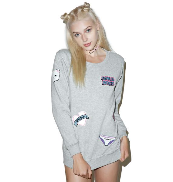 Local Heroes Girl Power Patches Sweatshirt