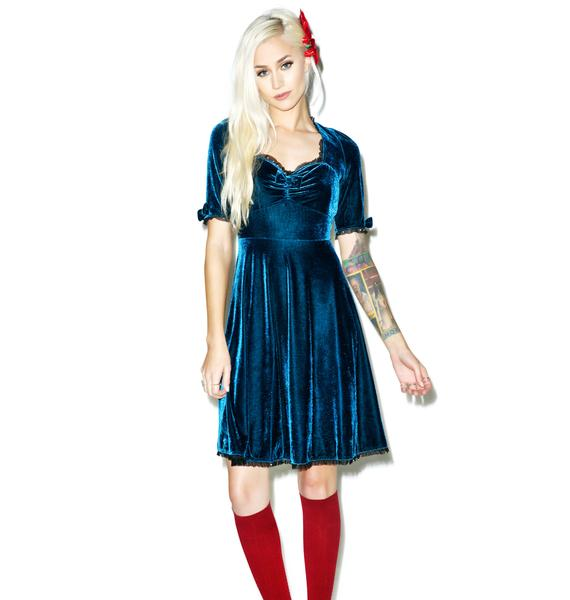 Sourpuss Clothing Velvet Vivienne Dress