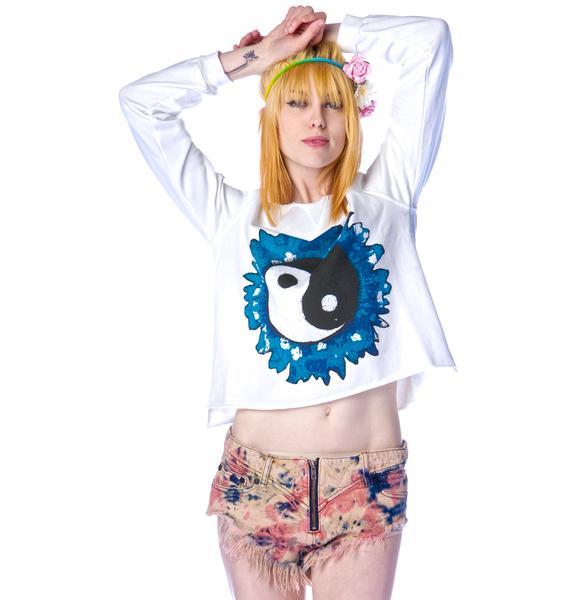 Mad Love Yin Yang Sweater Top