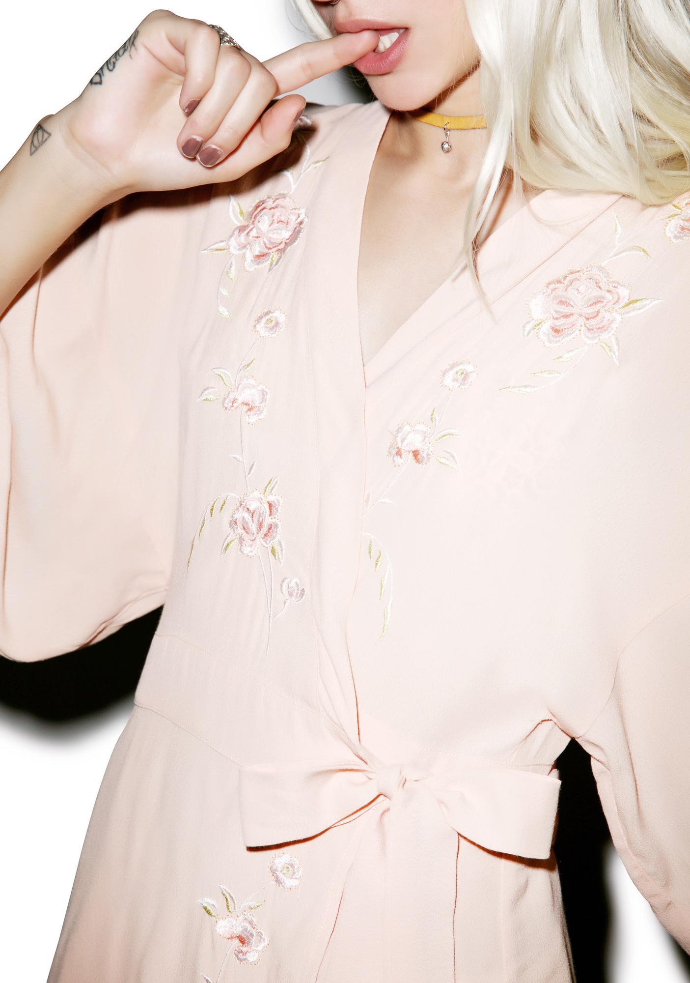 Peachy Petals Kimono