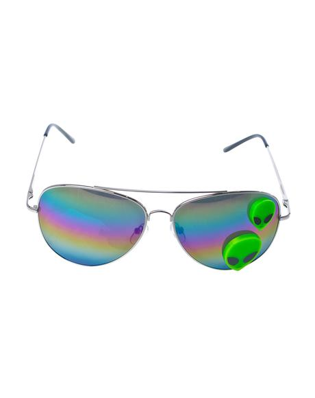 Martian Aviator Sunglasses