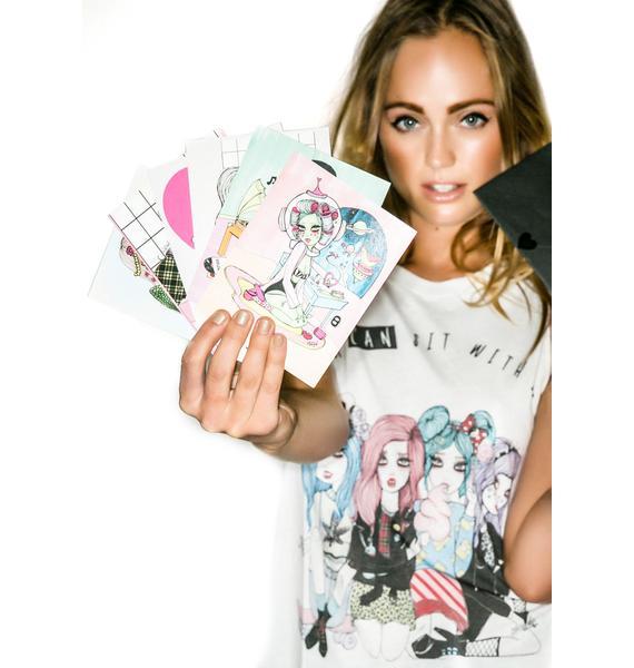 Valfré Babes Collectible Postcard Set