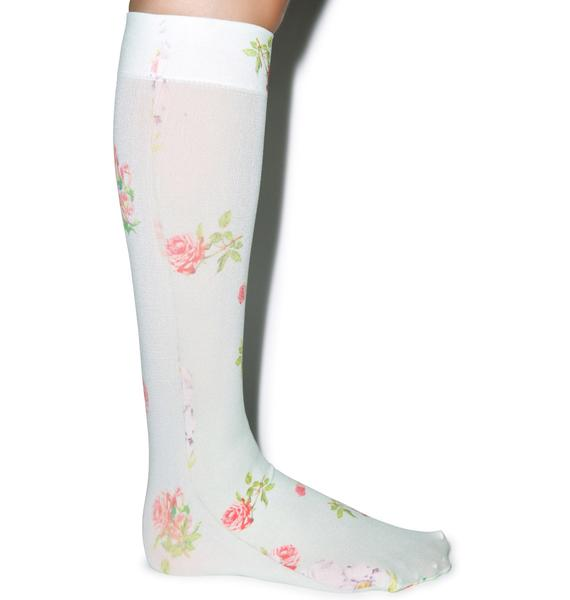 Private Arts Vintage Rose Knee High Sox