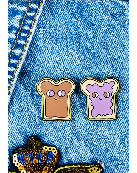 Peanut Butter And Jelly Pin Set