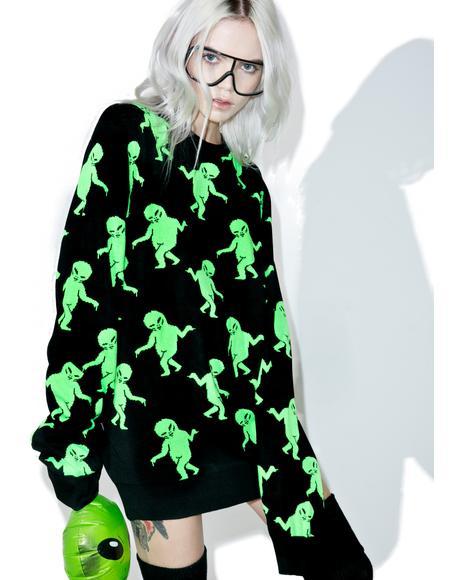 Dancing Alien Sweater
