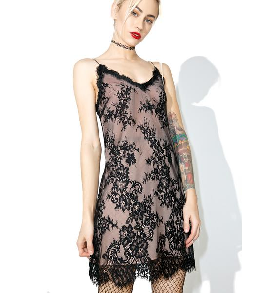 Lacy Thoughts Mini Dress