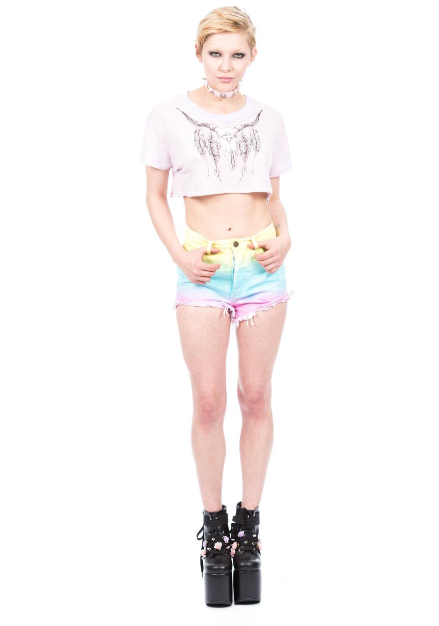 Wildfox Couture Heat Wave Trailer Cropped Tee