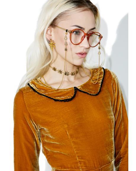 Trinity Leaf Glasses Chain