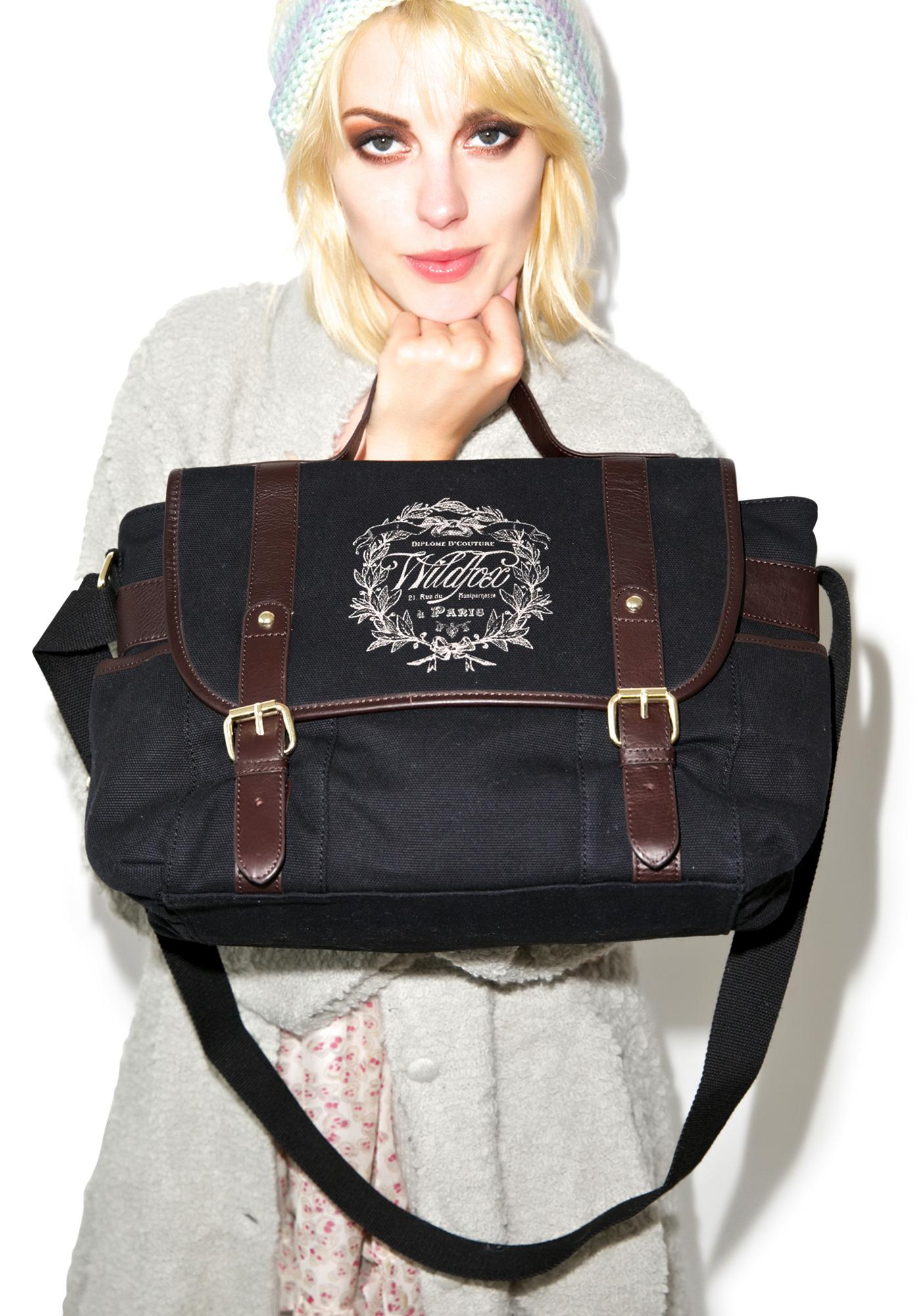 Wildfox Couture Paris Country Crest Messenger Bag