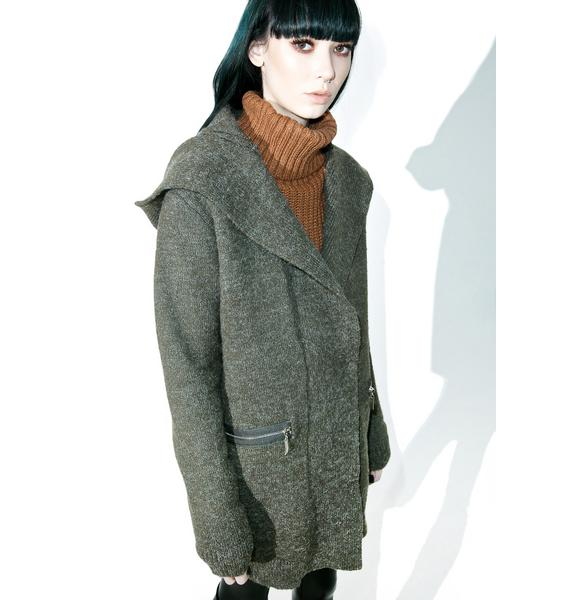 Huntress Hooded Knit Jacket