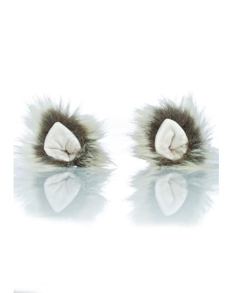 Arctic Wolf Clip In Ears