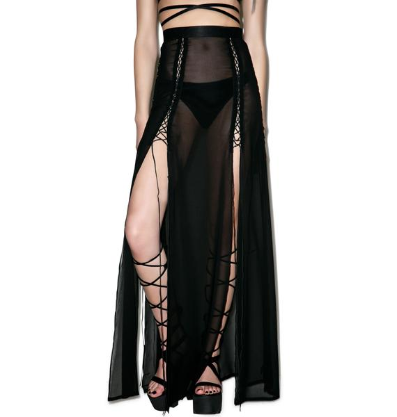 Widow Cult Kiss Maxi Skirt