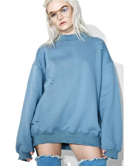 Fade Away Distressed Sweatshirt