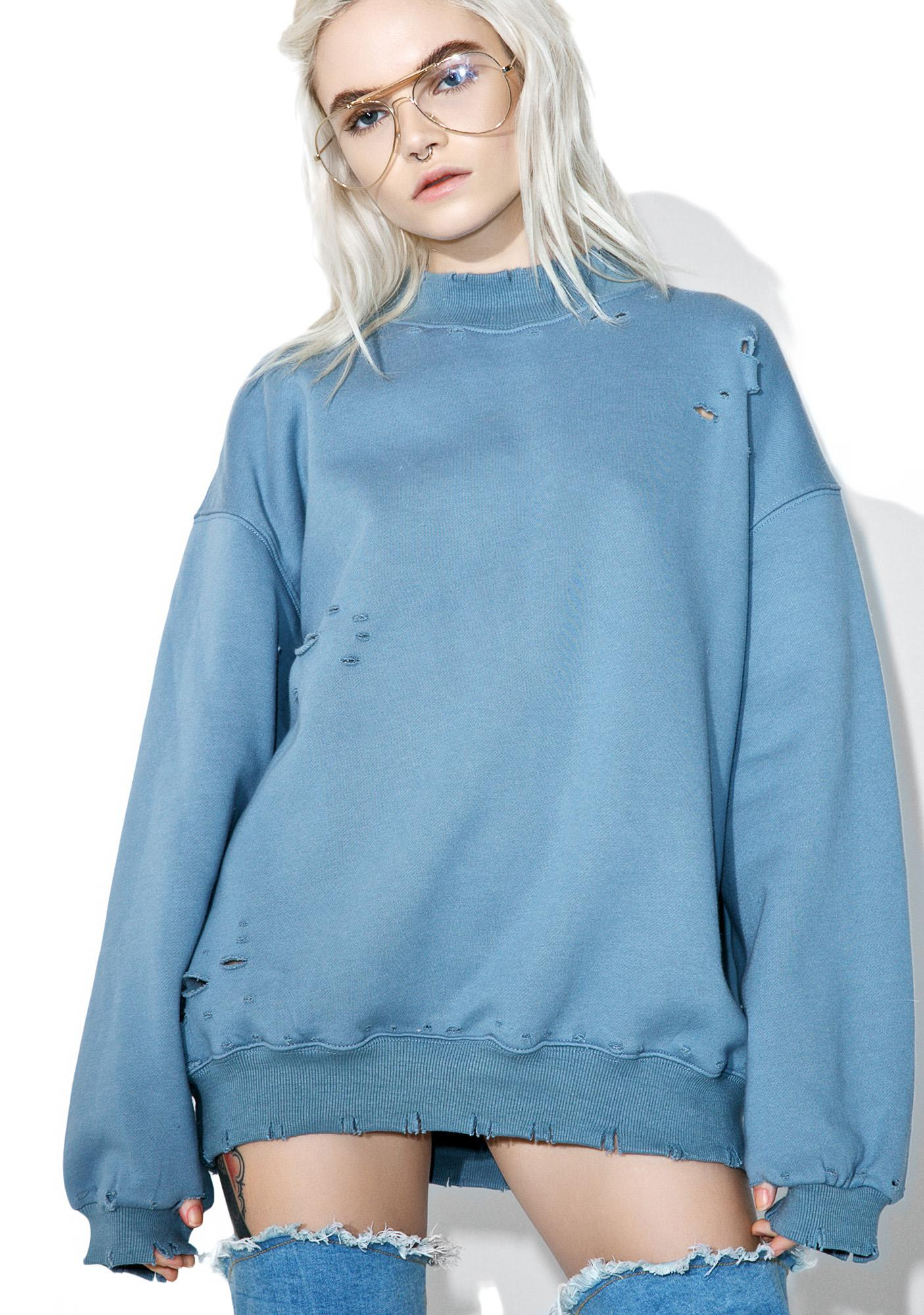 Fade Away Distressed Sweatshirt