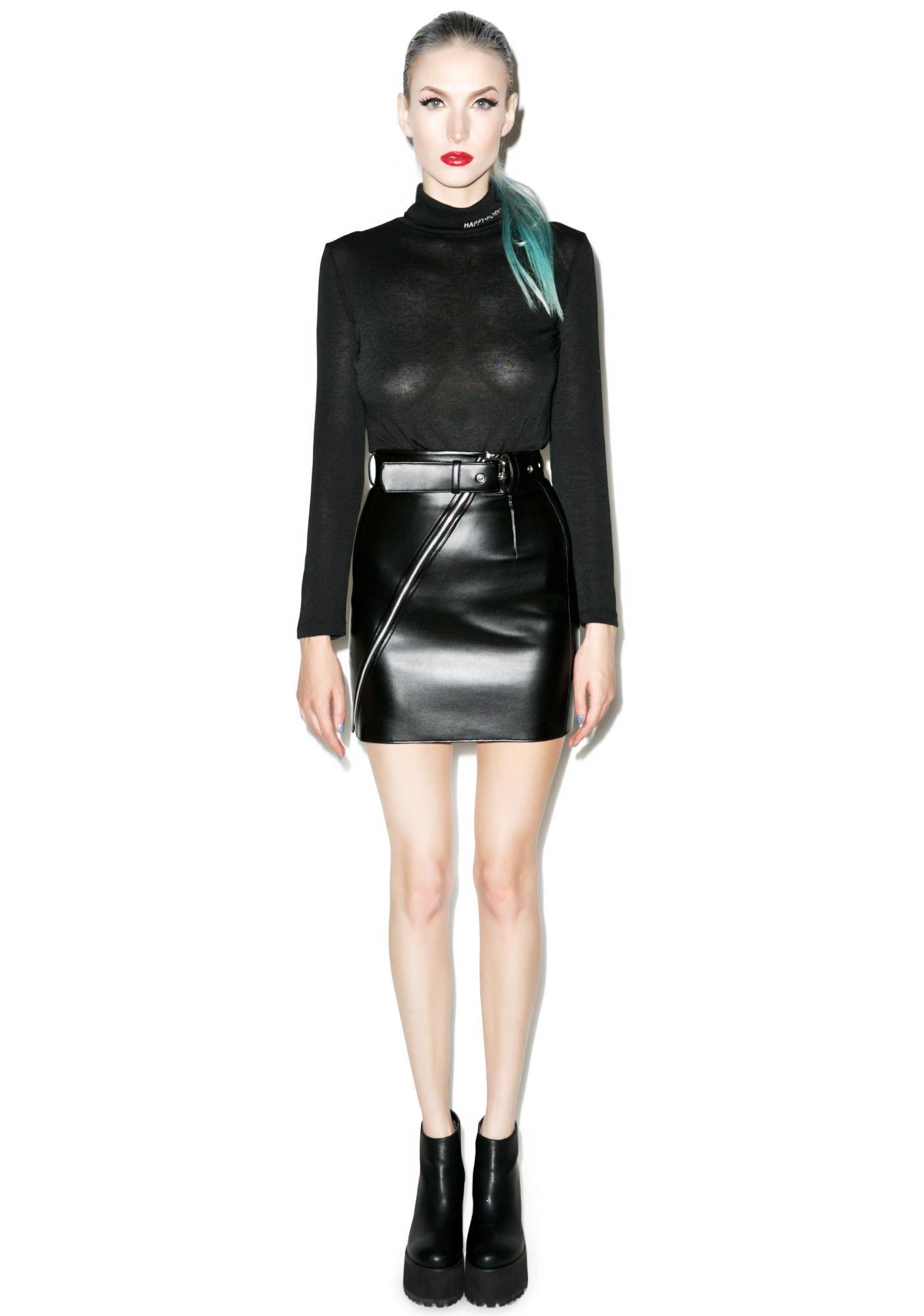 Matter of Black Bad Ass Vegan Leather Skirt