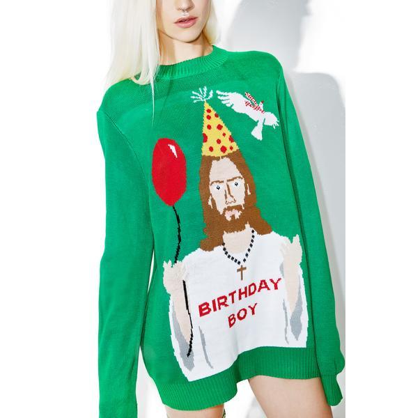 Tipsy Elves Happy Birthday Jesus Sweater