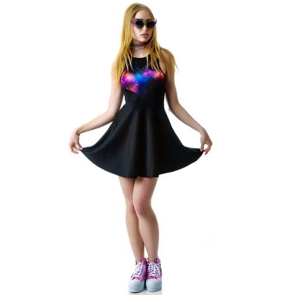 My Heart Needs Space Skater Dress