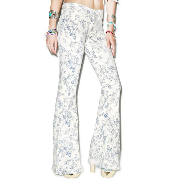 Wildfox Couture The Joni Mid-Rise Super Flare Jeans