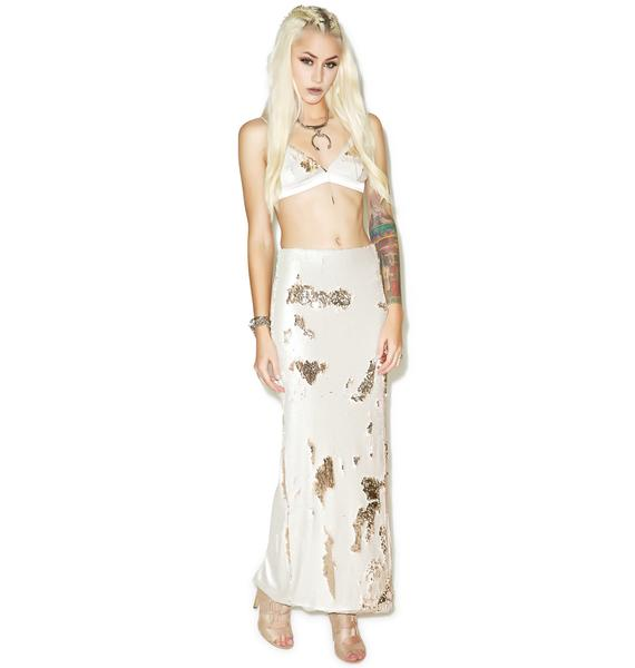 Line & Dot Lucille Sequin Skirt