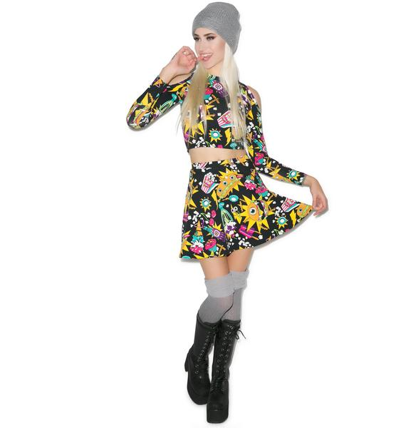 Iron Fist Killer Munchies Skater Skirt