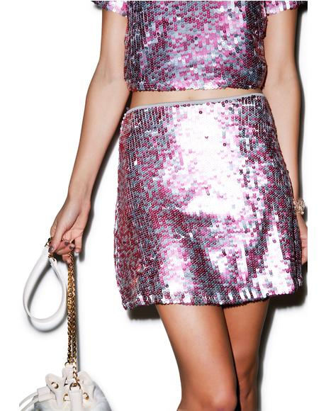 Weaver Sequin Rows Skirt