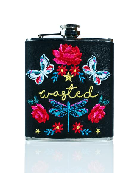 Folk Hip Flask