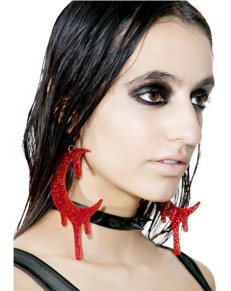 Glitter Bloodmoon Earrings