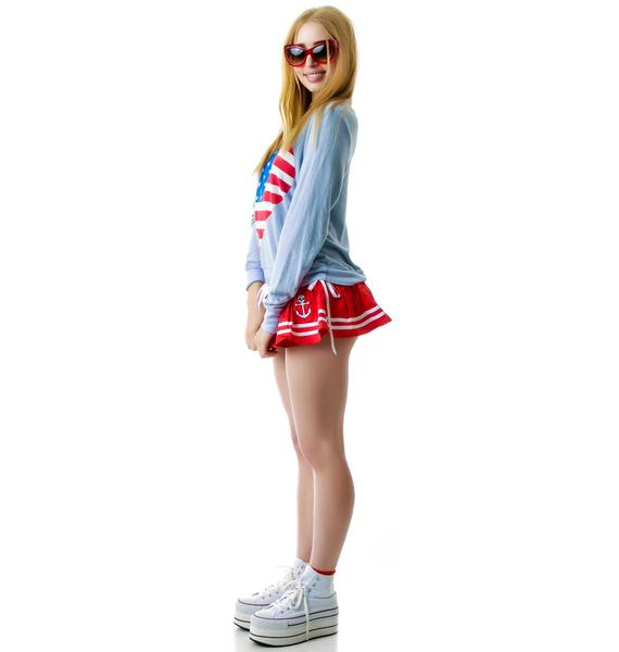 Wildfox Couture American Beach Party Baggy Beach Jumper