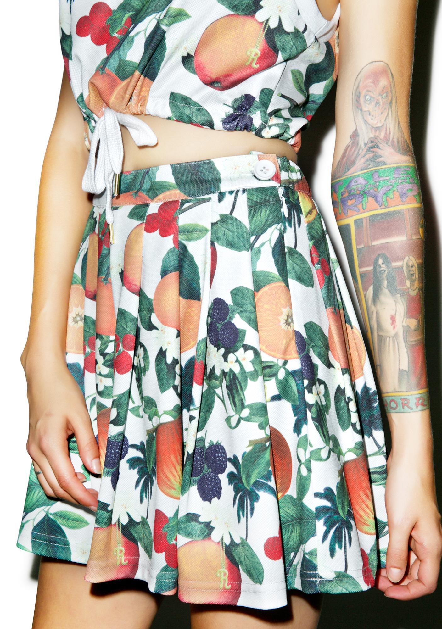 Joyrich Orange Blossom Pleats Skirt