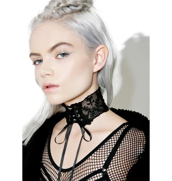 Vampira Lace-Up Choker