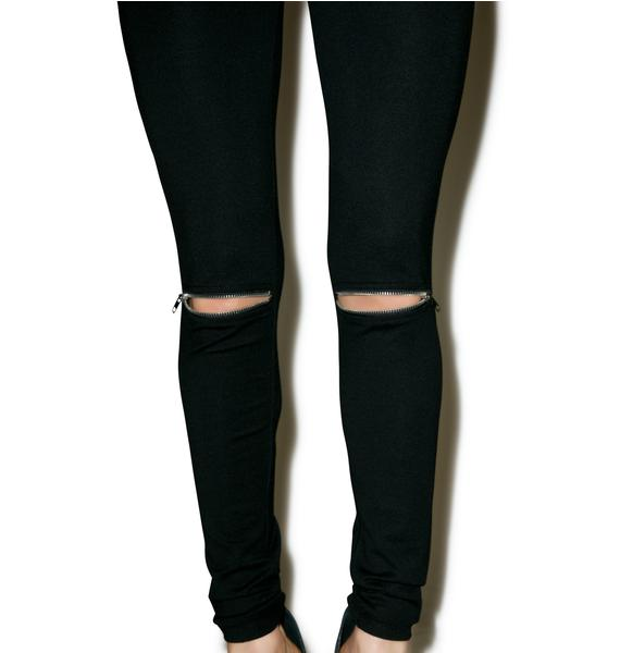 Lights Down Low Zipper Leggings