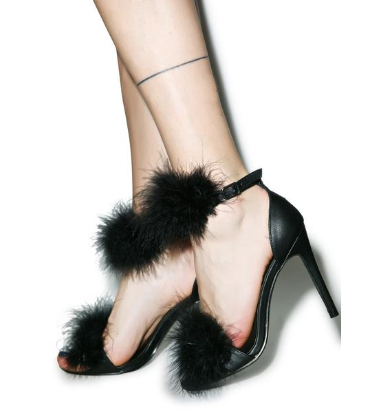 Grrl Next Door Fluffy Heels