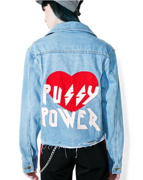 Pussy Power Denim Jacket