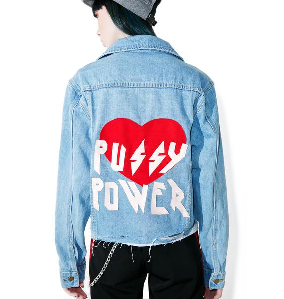High Heels Suicide Pussy Power Denim Jacket