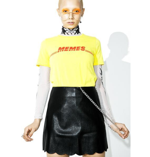 Soft Core Vegan Leather Skirt