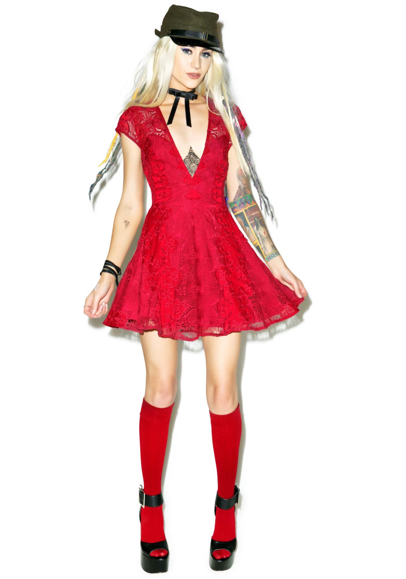 For Love & Lemons Sienna Mini Dress