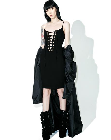 Follow Me Lace Up Dress