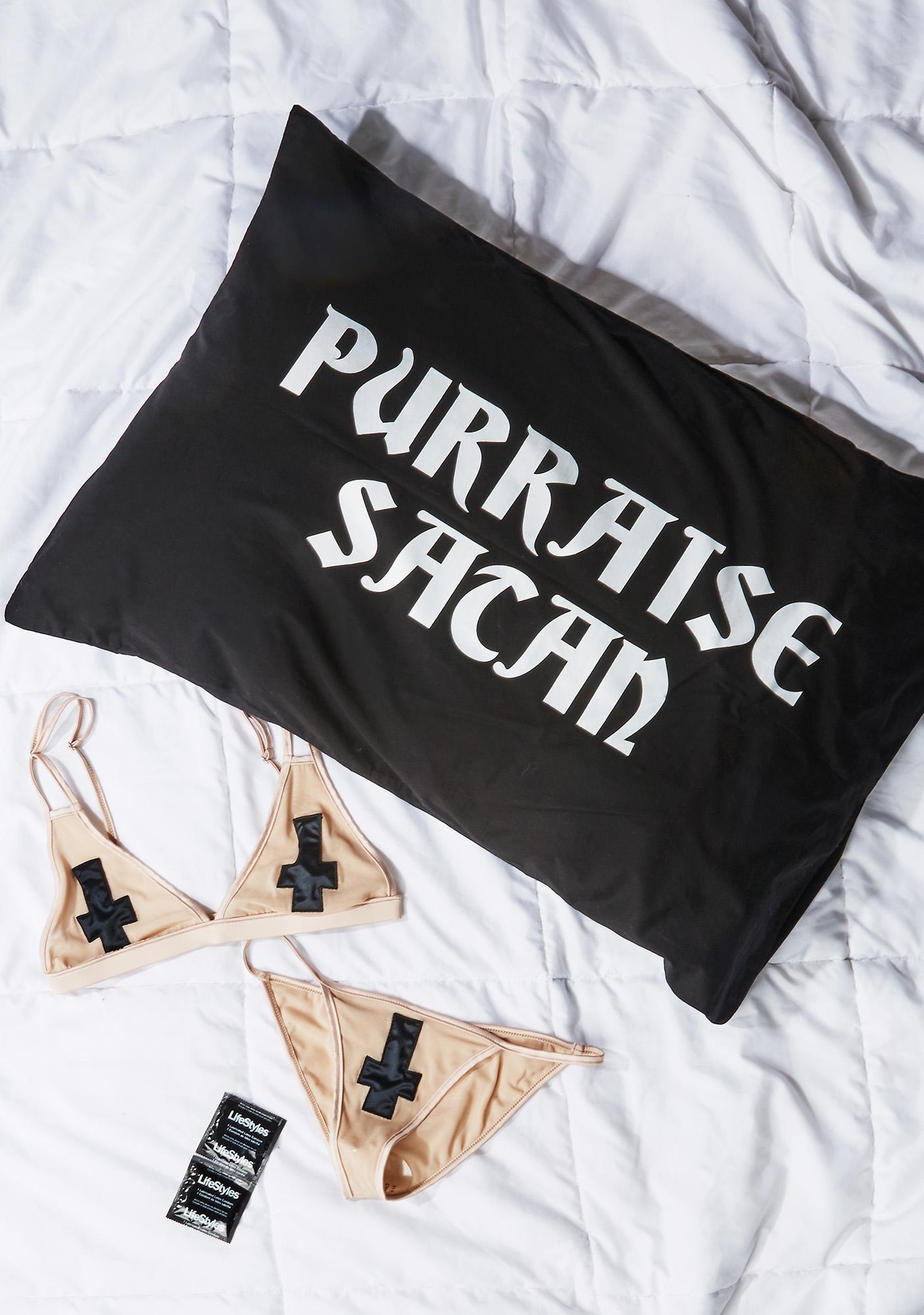 Killstar Purraise Satan Pillow Cases