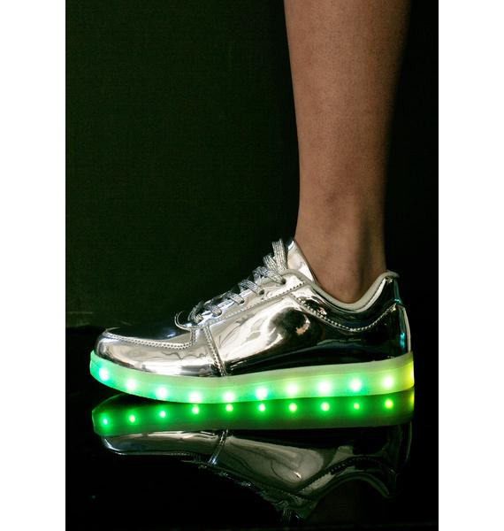 Mirrored Finish Line Light Up Sneakers