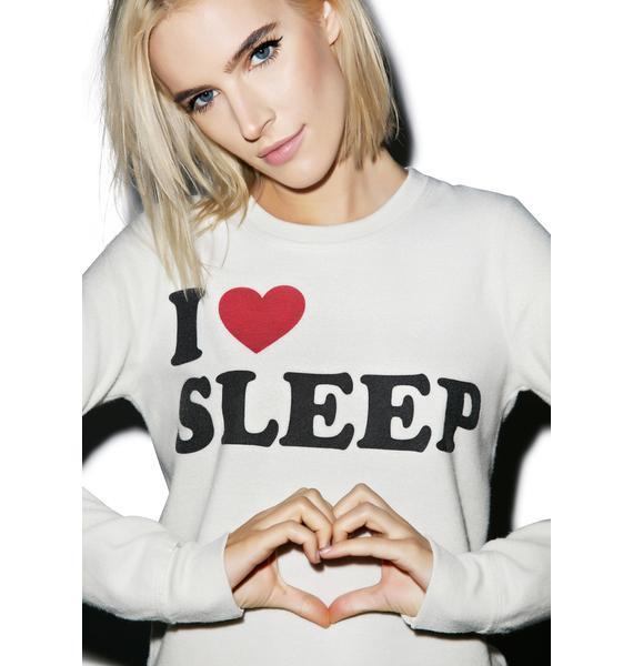 Chaser I Heart Sleep Sweatshirt