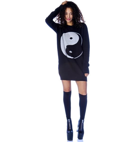Yin Yang Sweater Dress