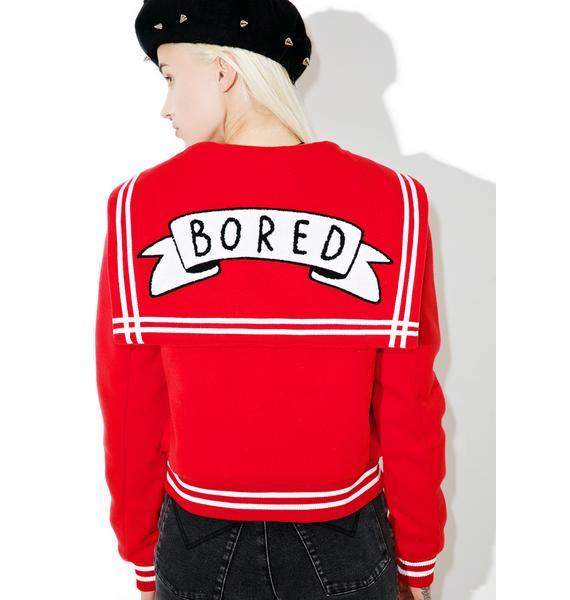 Lazy Oaf Bored Varsity Jacket