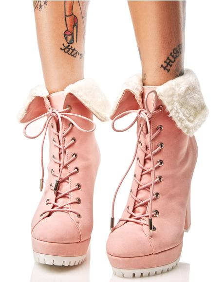 Queen Dilemma Lace-Up Booties