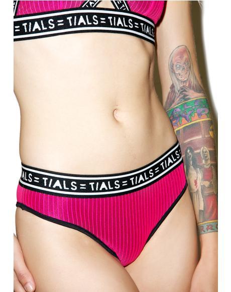 Hott Pink Logo High Cut Undies