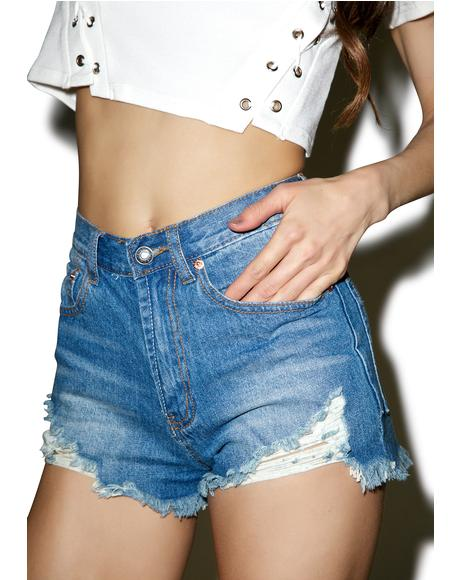 Troublemaker Distressed Shorts